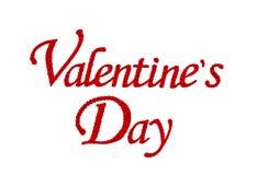 Rewolucjonistki róży kwiatu set w słowa Valentine's dniu odizolowywającym na bielu Zdjęcia Royalty Free
