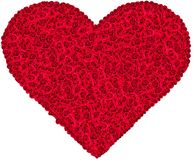 Rewolucjonistki róży serce zdjęcia royalty free