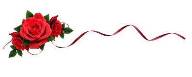 Rewolucjonistki róża kwitnie i jedwabniczy faborek w wakacyjnym przygotowania Fotografia Stock