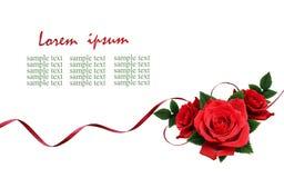 Rewolucjonistki róży kwiaty i jedwabniczy tasiemkowy przygotowania Fotografia Stock