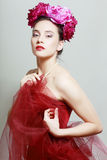 Rewolucjonistki sukni pozować Fotografia Royalty Free