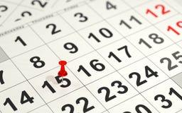 Rewolucjonistki wałkowy ocechowanie 15th na kalendarzu Obraz Stock