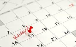 Rewolucjonistki wałkowy ocechowanie 15th na kalendarzu Fotografia Stock