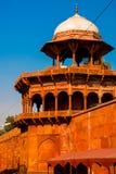 Rewolucjonistki wierza Taj Mahal kompleks w Agra, India Fotografia Royalty Free