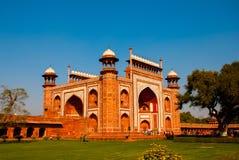 Rewolucjonistki wierza Taj Mahal kompleks w Agra, India Obraz Stock