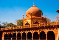 Rewolucjonistki wierza Taj Mahal kompleks w Agra, India Zdjęcie Stock