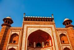 Rewolucjonistki wierza Taj Mahal kompleks w Agra, India Zdjęcia Royalty Free