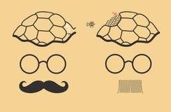 Rewolwerowów bracia miodowego biznes w jego tortoise głowie Fotografia Stock