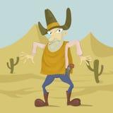 Rewolwerowiec w pustyni royalty ilustracja
