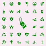 rework tag green icon. greenpeace icons universal set for web and mobile vector illustration