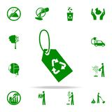 rework tag green icon. greenpeace icons universal set for web and mobile royalty free illustration