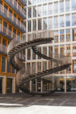 Rewriting stairs - Endless strairs sculpture at Ganghoferstrasse Stock Photos