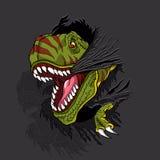 Rex agressivo de t ilustração stock