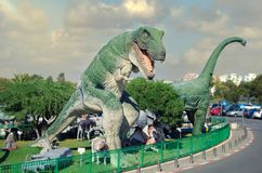 Rex del tiranosaurio antes de que la película comience fotos de archivo libres de regalías