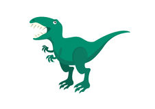Rex Del Tiranosaurio Del Personaje De Dibujos Animados Ilustración