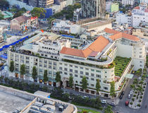 Rex hotel of Ho Chi Minh city. Ho Chi Minh City has the most dynamic economy in Vietnam Royalty Free Stock Photography
