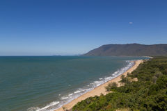 Rex Lookout Queensland, Australia. Photograph of a beach from Rex lookout atthe Captain Cook highway in Queensland, Australia royalty free stock images