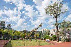 Rex Tyrannosaurus przy dinosaur doliny parkiem fotografia royalty free