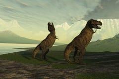 rex vrålar t Arkivbild
