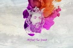 Rey Alfred el grande stock de ilustración