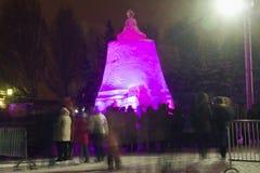Rey Bell de la escultura de hielo Fotos de archivo