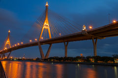 Rey Bhumipol Bridge dos Fotografía de archivo libre de regalías