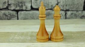 Rey blanco del ajedrez y reina blanca metrajes