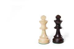 Rey blanco y negro Imagen de archivo libre de regalías