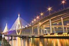 Rey Bridge del puente de cuerda Foto de archivo