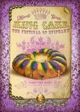Rey Cake de NOLA Culture Collection Mardi Gras fotos de archivo