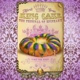 Rey Cake de NOLA Culture Collection Mardi Gras fotos de archivo libres de regalías