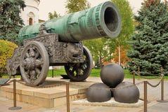 Rey Cannon en Moscú el Kremlin Foto de color Fotografía de archivo libre de regalías