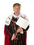 Rey con el mensaje Foto de archivo libre de regalías