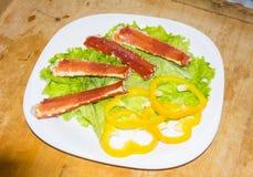 Rey Crab Dishes Foto de archivo libre de regalías