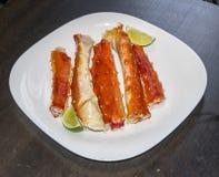 Rey Crab Dishes Imágenes de archivo libres de regalías