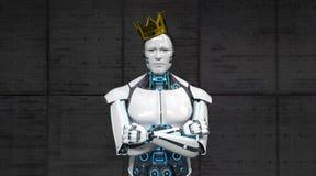 Rey Crown del robot stock de ilustración