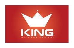 Rey Crown Simple Logo Imágenes de archivo libres de regalías