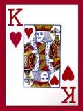 Rey de corazones Imagenes de archivo