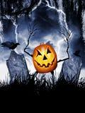 Rey de la calabaza de Halloween fotos de archivo