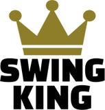 Rey de la danza del oscilación con la corona stock de ilustración