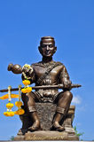 Rey de la estatua de Tailandia, estatua pranaresuan de Somdet Imagenes de archivo