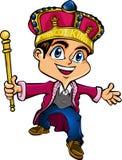 Rey de la mascota ilustración del vector