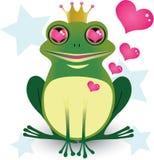 Rey de la rana en amor Imágenes de archivo libres de regalías