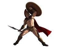 Rey de Leonidas del Spartans Imágenes de archivo libres de regalías