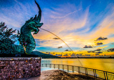 Rey de nagas en Songkhla Imagen de archivo libre de regalías