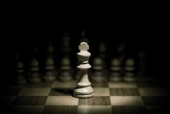 Rey del ajedrez Fotos de archivo libres de regalías