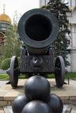 Rey del cañón del zar en Moscú el Kremlin, Rusia Imagen de archivo libre de regalías