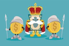 Rey del dinero Fotografía de archivo libre de regalías