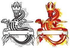 Rey del dragón Imágenes de archivo libres de regalías
