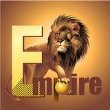 Rey del león del imperio del poder del vector de las bestias Fotos de archivo libres de regalías